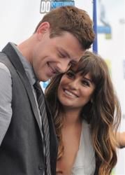 This file photo shows Cory Monteith and Lea Michele at the 2012 Do Something awards in Santa Monica, Calif.