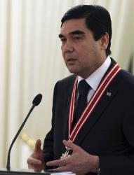 Turkmenistan President Gurbanguli Berdymukhamedov.