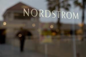 This May 9, 2013 photo shows a Nordstrom sign at a shopping mall in Brea, Calif.