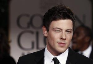 Cory Monteith arrives at the 69th Annual Golden Globe Awards Sunday, Jan. 15, 2012, in Los Angeles.
