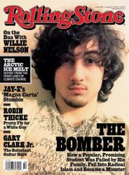 In this magazine cover image released by Wenner Media, Boston Marathon bombing suspect Dzhokhar Tsarnaev appears on the cover of the Aug. 1 'Rolling Stone.'