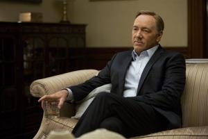 This image released by Netflix shows Kevin Spacey in a scene from the Netflix original series, House of Cards, an adaptation of a British classic.