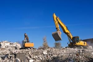 Stock image of a demolition.