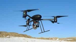 File photo of a law-enforcement drone in Mesa County, Colo.