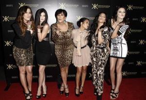 In this Aug. 17, 2011 file photo, from left, Khloe Kardashian, Kylie Jenner, Kris Jenner, Kourtney Kardashian, Kim Kardashian, and Kendall Jenner arrive at the Kardashian Kollection launch party in LA.
