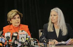 Gloria Allred and Irene McCormack Jackson speak at a news conference where they revealed details about their accusations of sexual misconduct against San Diego Mayor Bob Filner in San Diego yesterday.