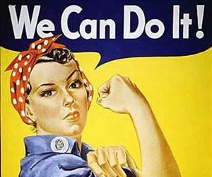 Rose Will Monroe played  Rosie the Riveter, the nation's poster girl for women joining the work force during World War II.