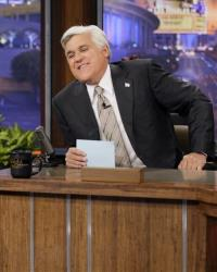 This Oct. 24, 2012 photo released by NBC shows Jay Leno, host of The Tonight Show with Jay Leno, on the set in Burbank, Calif.