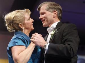 Virginia Gov. Bob McDonnell dances with his wife, Maureen, during his inaugural ball in Richmond in 2010.