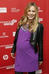 This Jan. 19, 2013 file photo shows  pregnant actress Kristen Bell at the premiere of The Lifeguard during the 2013 Sundance Film Festival in Park City, Utah.
