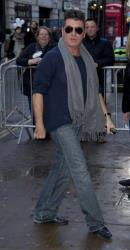 Simon Cowell, one of the Judges for Britain's Got Talent, arrives for the auditions at the London Palladium in central London, Monday, Jan. 21, 2013.