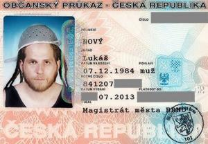 Lukas Novy's official government-issued ID.