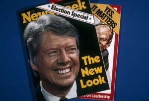 In this Nov. 1, 1976, file photo, covers of Newsweek are photographed in New York.