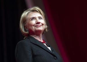 A file photo of Hillary Clinton.