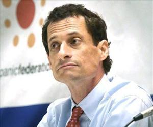 New York mayoral candidate Anthony Weiner  listens during AARP's town hall forum, Aug. 6, 2013 at Hunter College in New York.