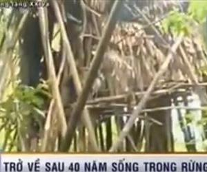 This screenshot from a Vietnamese TV report shows the house Ho Van Thanh was living in.
