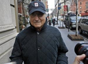 In this Dec. 17, 2008 file photo, Bernard Madoff returns to his Manhattan apartment after making a court appearance in New York.