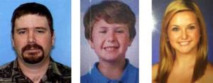 This composite photo provided by the San Diego Sheriff's Department shows: James Lee Dimaggio, 40, left, Ethan Anderson, 8, and Hannah Anderson, 16.