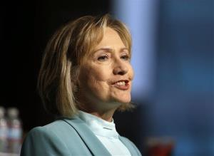 Hillary Clinton speaks to the American Bar Association Monday in San Francisco.