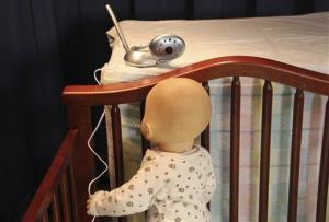 A baby monitor is shown.