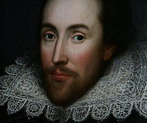 A detail of the newly discovered portrait of William Shakespeare, presented by the Shakespeare Birthplace trust, is seen in central London, Monday March 9, 2009.