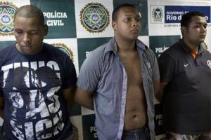 Wallace Aparecido Souza Silva, left, Carlos Armando Costa dos Santos, center, and Jonathan Foudakis de Souza.