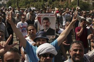 Supporters of ousted Mohamed Morsi march toward downtown Cairo.