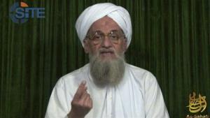 A file photo of al-Qaeda's leader Ayman al-Zawahri.