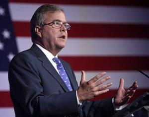 Former Florida Gov. Jeb Bush speaks at the American Legislative Exchange Council's 40th annual meeting.