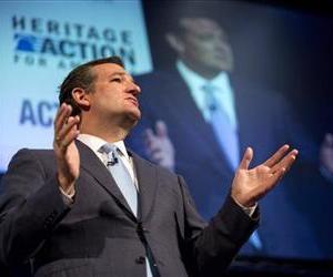 Sen. Ted Cruz, (R-Texas), speaks during the family leadership summit in Ames, Iowa Aug. 10, 2013.
