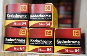 Kodak color slide film Kodachrome on display in 2008. It's a much different company today.