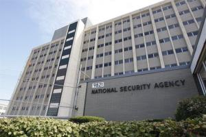 Tthe National Security Agency building at Fort Meade, Md.
