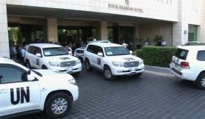 UN weapons inspectors arrive in Damascus on the weekend.