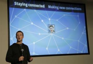 Facebook CEO Mark Zuckerberg speaks about Facebook Graph Search at Facebook headquarters in Menlo Park, California.
