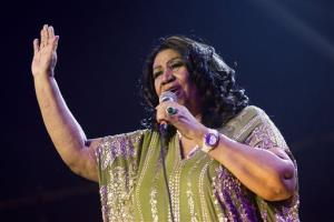 In this May 11, 2013 file photo, Aretha Franklin performs during McDonald's Gospelfest 2013 at the Prudential Center in Newark, NJ.