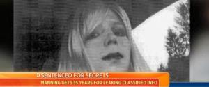 Bradley Manning is shown in a women's wig in a Today report.