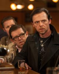 This film publicity image released by Focus Features shows Simon Pegg, right, and Nick Frost in a scene from The World's End.