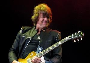 This May 20, 2012 file photo shows Bon Jovi guitarist Richie Sambora performing at the Bamboozle Festival in Asbury Park NJ.