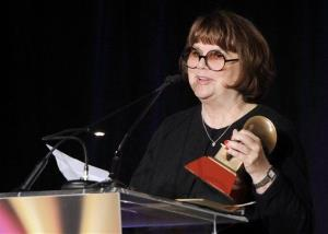 Linda Ronstadt accepts the Life Time Achievement award at the Latin Recording Academy ceremony in 2011 in Las Vegas.