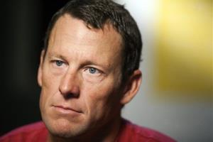 In this Feb. 15, 2011, file photo, Lance Armstrong pauses during an interview in Austin, Texas.