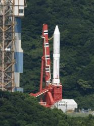 The Epsilon rocket stayed on the launch pad at the Uchinoura Space Center today.