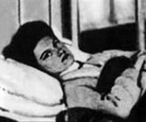 Mary Mallon in a hospital bed.