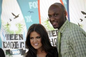 Khloe Kardashian and Lamar Odom arrive at the Teen Choice Awards on Sunday, Aug. 8, 2010 in Universal City, Calif.