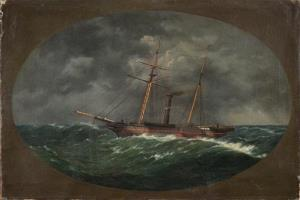 An 1852 painting by W.A.K. Martin depicts the ship, USCS Robert J. Walker, which sank June 21, 1860.