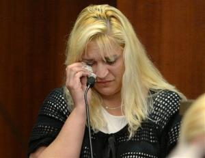Sherry West, mother of slain toddler Antonio Santiago, testifies in court on Aug. 27.