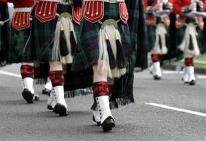 Members of the Royal Regiment of Scotland Band.