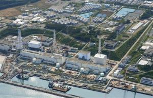This aerial photo taken on Aug. 31, 2013, shows the Fukushima Dai-ichi nuclear plant at Okuma in Fukushima prefecture, northern Japan.