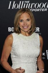 Katie Couric seen on the red carpet for The Hollywood Reporter Celebrates the 35 Most Powerful People in Media, on April 10th, 2013, in New York.