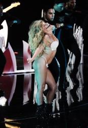 Lady Gaga performs Applause at the MTV Video Music Awards on Sunday, Aug. 25, 2013, at the Barclays Center in the Brooklyn borough of New York.