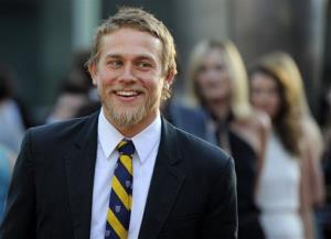In a Tuesday, Aug. 30, 2011 file photo, Charlie Hunnam, a cast member in Sons of Anarchy, arrives at a screening of the fourth season premiere of the television series, in Los Angeles.
